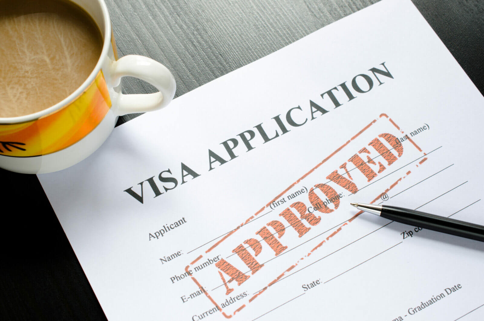 visa application – approved