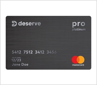Deserve Pro Platinum Mastercard
