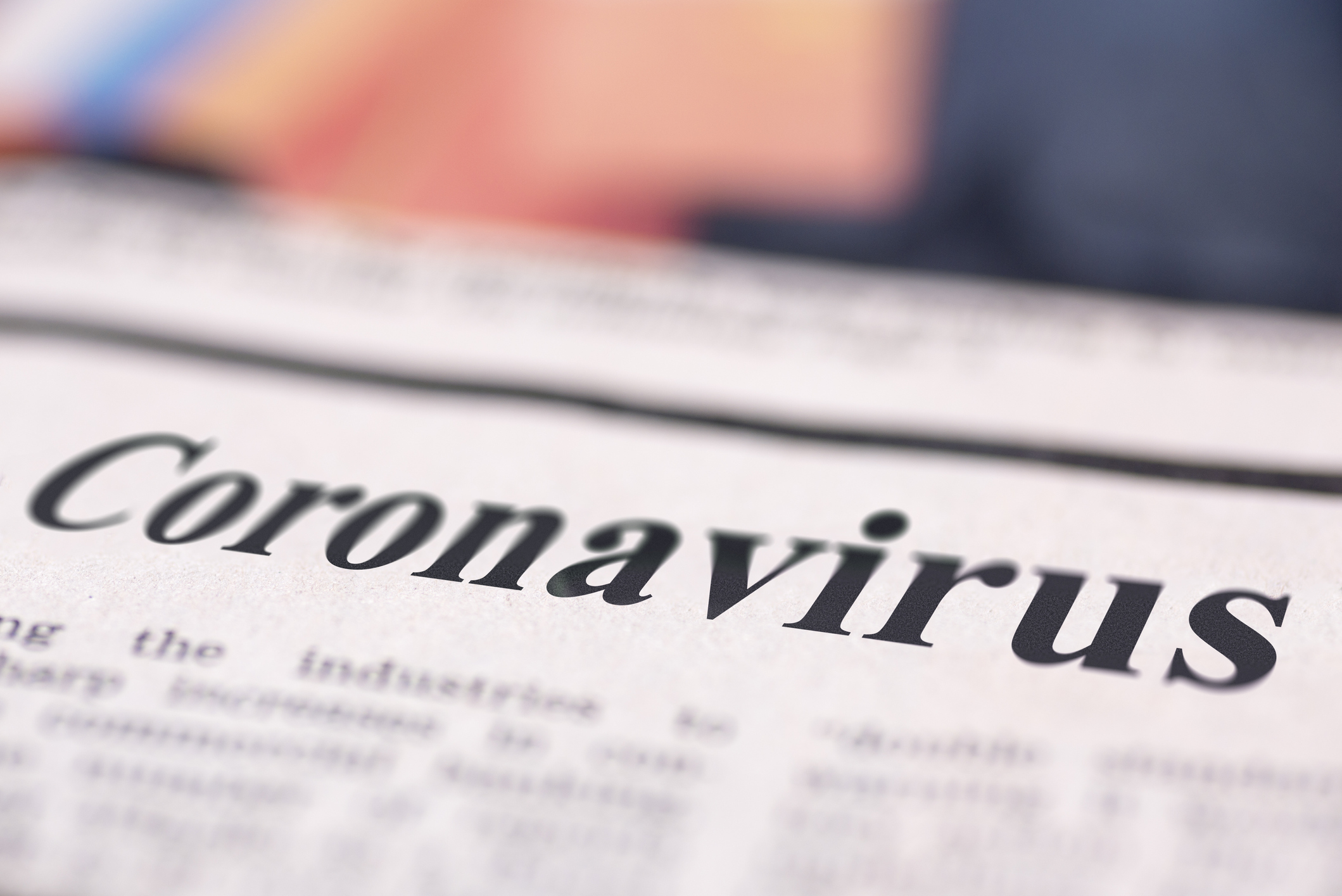 Coronavirus written newspaper